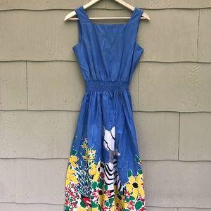 Vintage Cotton Dress | Fashion Floral Print | 8